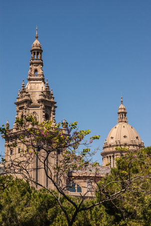 espanya: Placa De Ispania, the Nation Museum in Barcelona  Spain