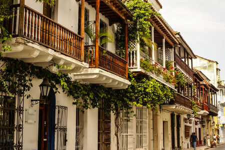 Spanish colonial house. Cartagena de Indias, Colombias Caribbean Zone
