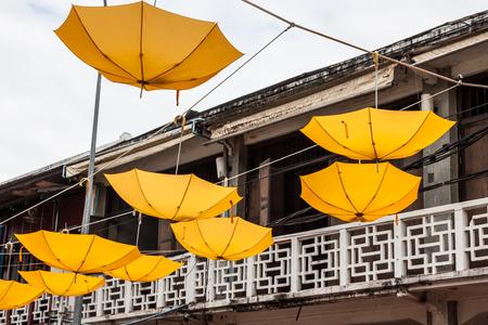 colorful umbrella street decoration Stock Photo - 26012885