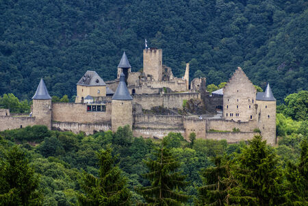 middle joint: Bourscheid Castle in Luxembourg