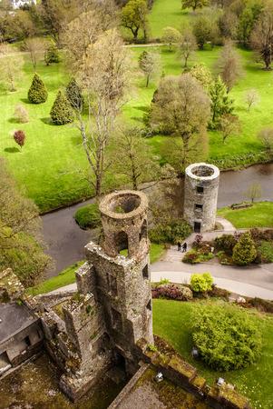 Overhead aerial view of Blarney Castle, Ireland