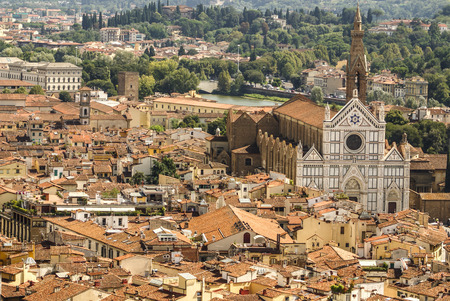 Florence, Italy: panoramic view from the top of Duomo church photo