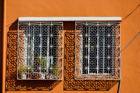 patronage: Morocco Ouarzazate - Arabesque window in the medieval Kasbah built in adobe