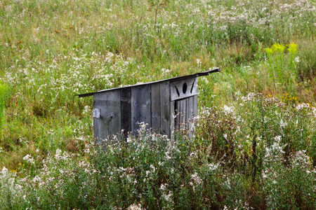 outhouse: Old wooden outhouse in Norway