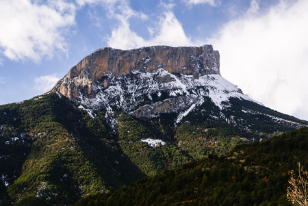 mountains in Ordesa National Park, Pyrenees, Huesca, Aragon, Spain photo