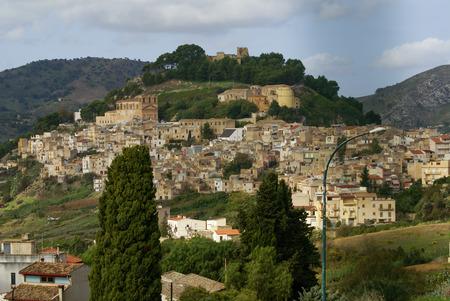 calatafimi: Calatafimi view of city ,sicilia,italy