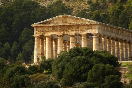 segesta: greek temple in the ancient city of Segesta, Sicily