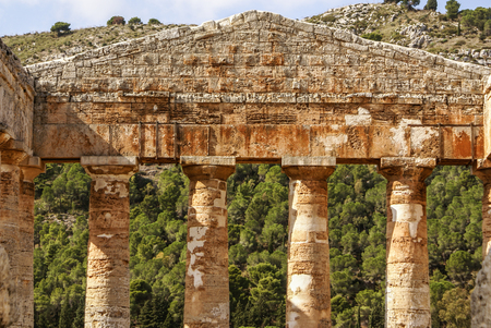 segesta: greek temple in the ancient city of Segesta, Sicily