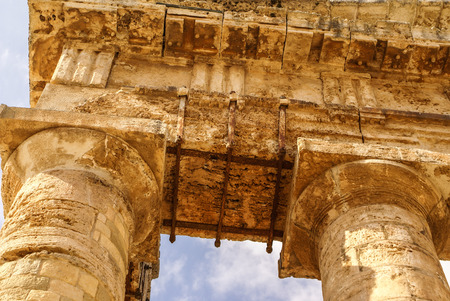 segesta: segesta archaeological site of ancient greece drills Sicily Italy