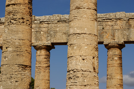 segesta archaeological site of ancient greece drills Sicily Italy photo