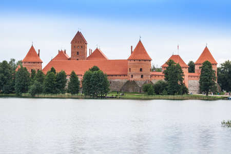 Beautiful Medieval Trakai Castle in an Island in the Lake