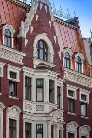 xx century: Art Nouveau style in architecture of early XX century in Riga, Latvia