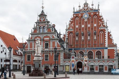 Riga - capital of Latvia. Old city, Blackheads house