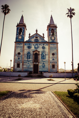 senhora: Church in Cortegaca ,Portugal Stock Photo