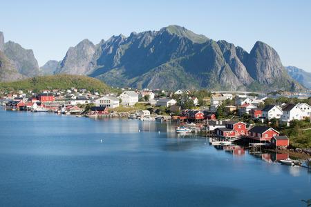 lofoten: Scenic town of Reine on Lofoten islands in Norway