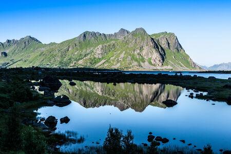 Beautiful landscape of north Norway, Scandinavia photo