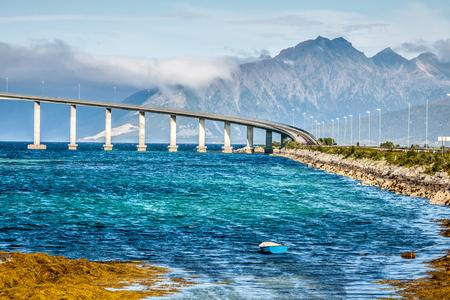 bridge on the river in Norway photo