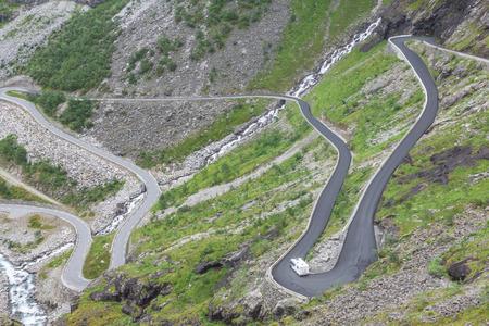 Trollstigen, Trolls Footpath, serpentine mountain road in Norway photo