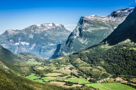 jotunheimen national park: Mountain scenery in Jotunheimen National Park in Norway Stock Photo