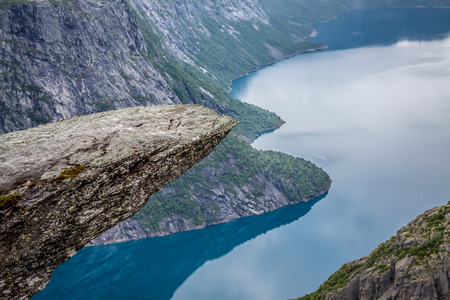 norge: Norway Mountain Trolltunga Odda Fjord Norge Hiking Trail