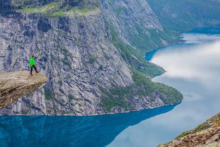 Norway Mountain Trolltunga Odda Fjord Norge Hiking Trail photo