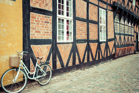 timbered: half timbered traditional house in ribe denmark