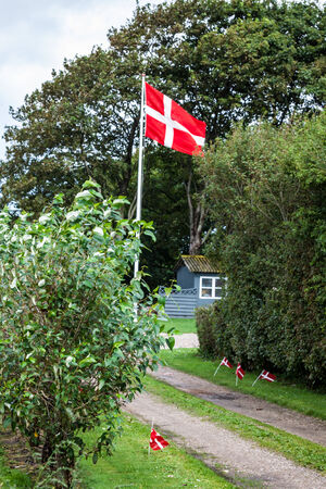 jutland: Danish flags are visible on the picture