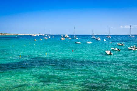 josep: Ibiza island,beach Ses Salines  in Sant Josep at Balearic islands