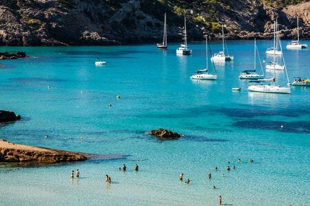 jose: Cala Tarida in Ibiza beach San Jose at Balearic Islands
