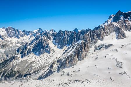 Mont Blanc massif,in the Chamonix mont blanc Stock Photo