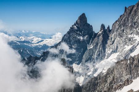 massif: Mont Blanc massif,in the Chamonix mont blanc Stock Photo