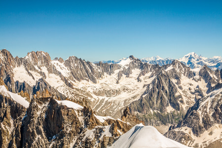 lac: View on the Alps from the Aiguille du Midi , Chamonix.