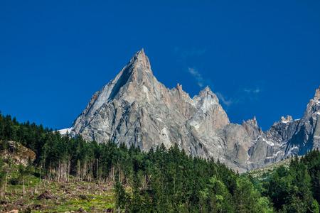 pinnacle: View of Dru Peak in Chamonix, Alps, France
