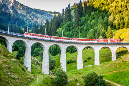 tunnels: Swiss railway. Switzerland. Stock Photo