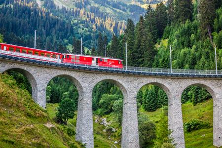 narrow gauge railway: Swiss railway. Switzerland. Editorial