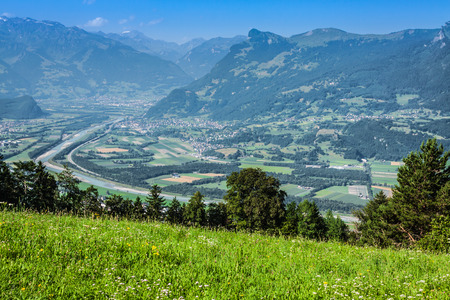 liechtenstein: beautiful panorama of Liechtenstein