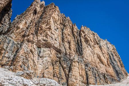 sella: Sass Pordoi south face (2952 m) in Gruppo del Sella, Dolomites mountains in Alps