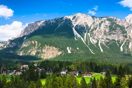 sudtirol: Beautiful Dolomite mountains near Cortina DAmpezzo ,Pomagagnon group, Sudtirol, Italy
