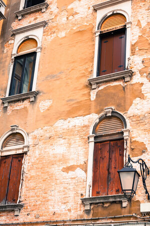 st  marks square: Traditional window of typical old Venice building
