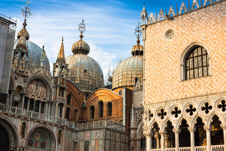 st  mark's: The Basilica of San Marco in St. Marks square in Venice, Italy Stock Photo