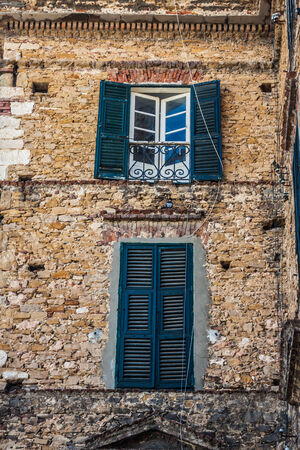 Windows in traditional style.Tunis photo