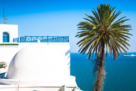 sidi bou said: Cafe with beautiful view on Sidi Bou Said harbour