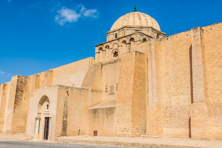 kairouan: The Great Mosque of Kairouan in Tunisia Editorial