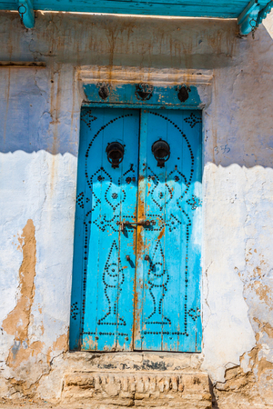 kairouan: Decorative door in Kairouan, Tunisia