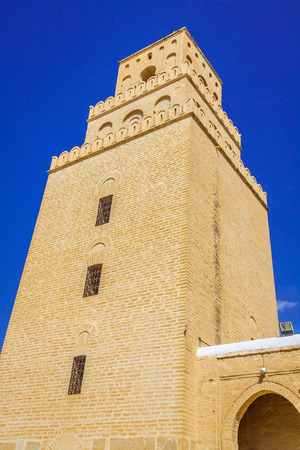 kairouan: The Great Mosque of Kairouan (Great Mosque of Sidi-Uqba), Tunisia Editorial