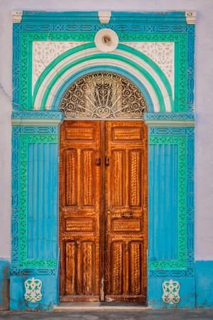 kairouan: Decorative door in Kairouan, Tunisia