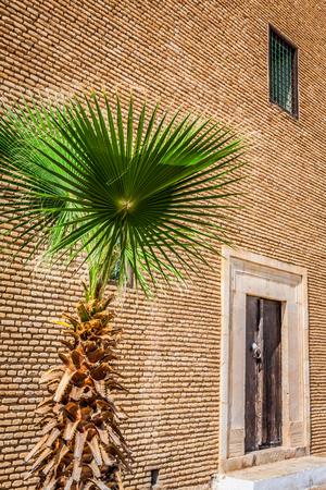 Decorative door in Kairouan, Tunisia
