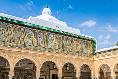 coran: The Great Mosque of Kairouan in Tunisia Editorial