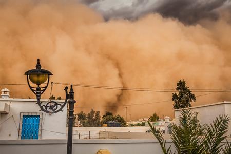 Sandstorm in Gafsa,Tunisia photo