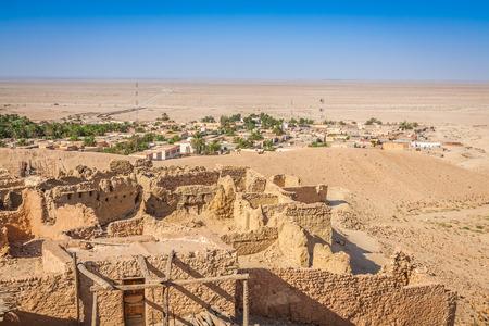 view of mountain oasis Chebika, Sahara desert, Tunisia, Africa photo